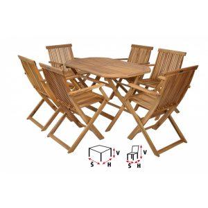 HECHT BASIC SET 6 - Set záhradného nábytku