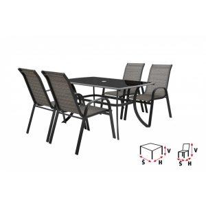 HECHT HONEY SET 4 - set záhradného nábytku